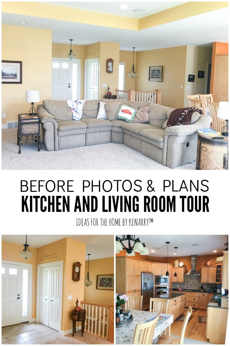 Before Photos & Plans - Kitchen and Living Room Tour - Ideas for the Home by Kenarry