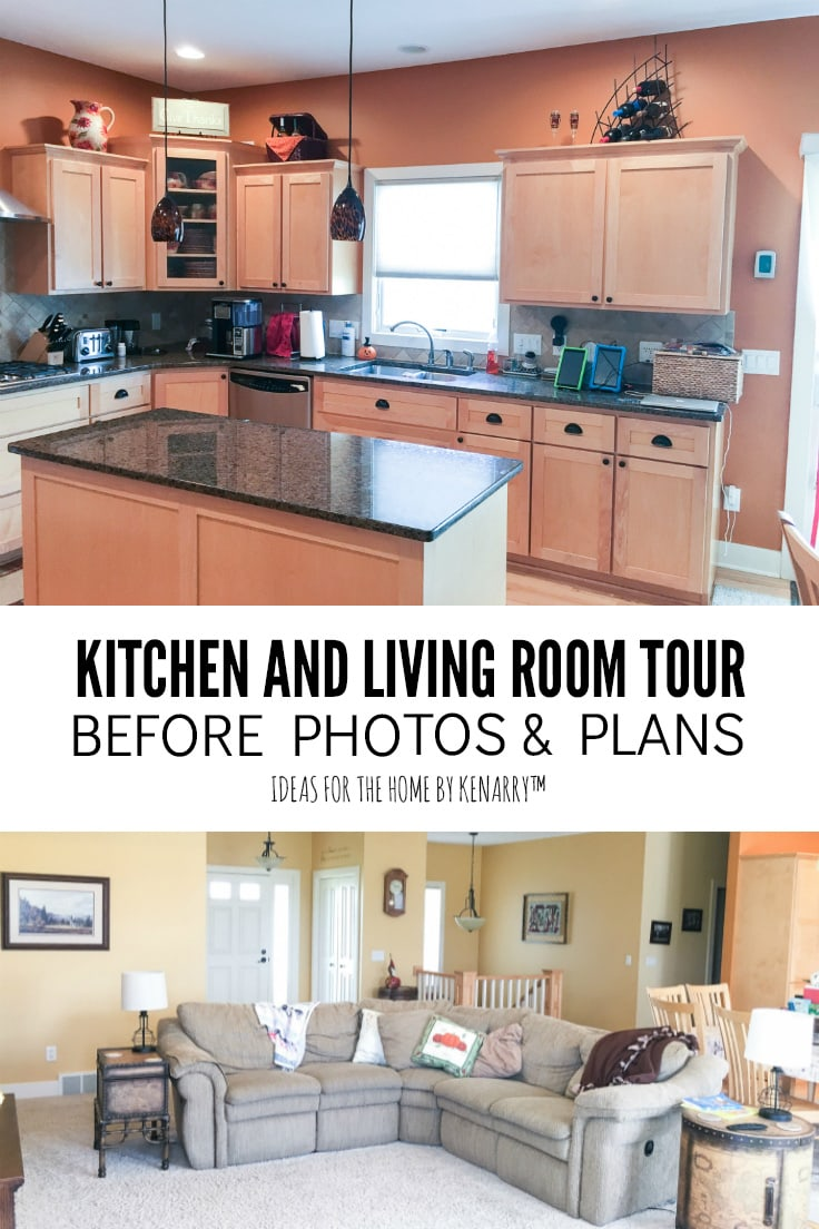 Kitchen and Living Room Tour Before Photos & Plans - Ideas for the Home by Kenarry