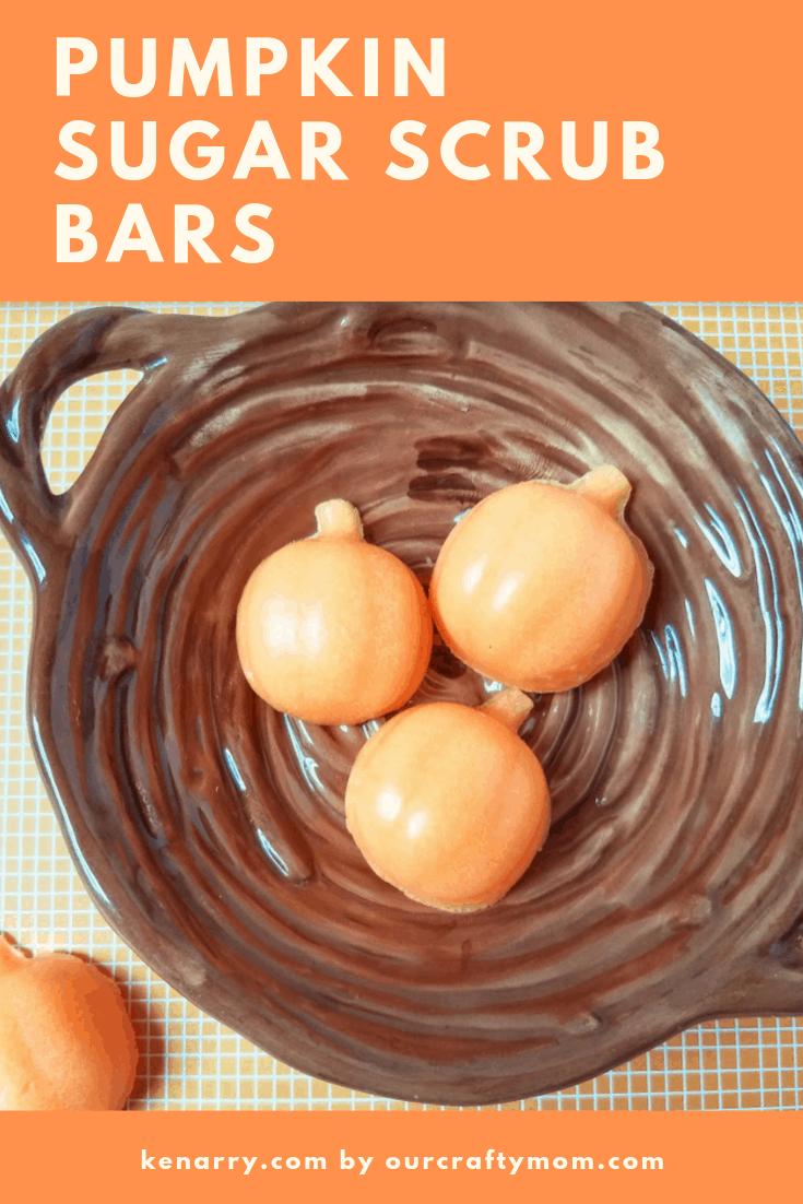 pumpkin sugar scrub bars pin image