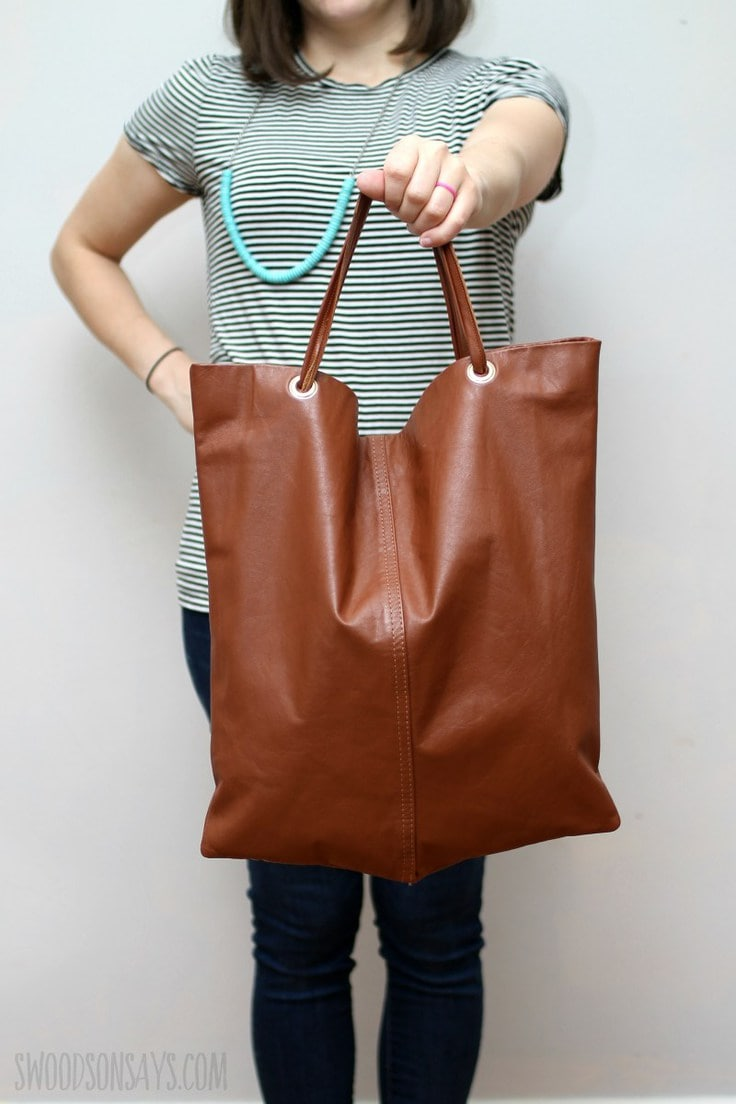 How to turn a leather coat into a purse