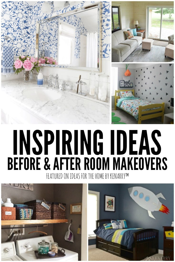 Inspiring Ideas, Before & After Room Makeovers featured on Ideas for the Home by Kenarry