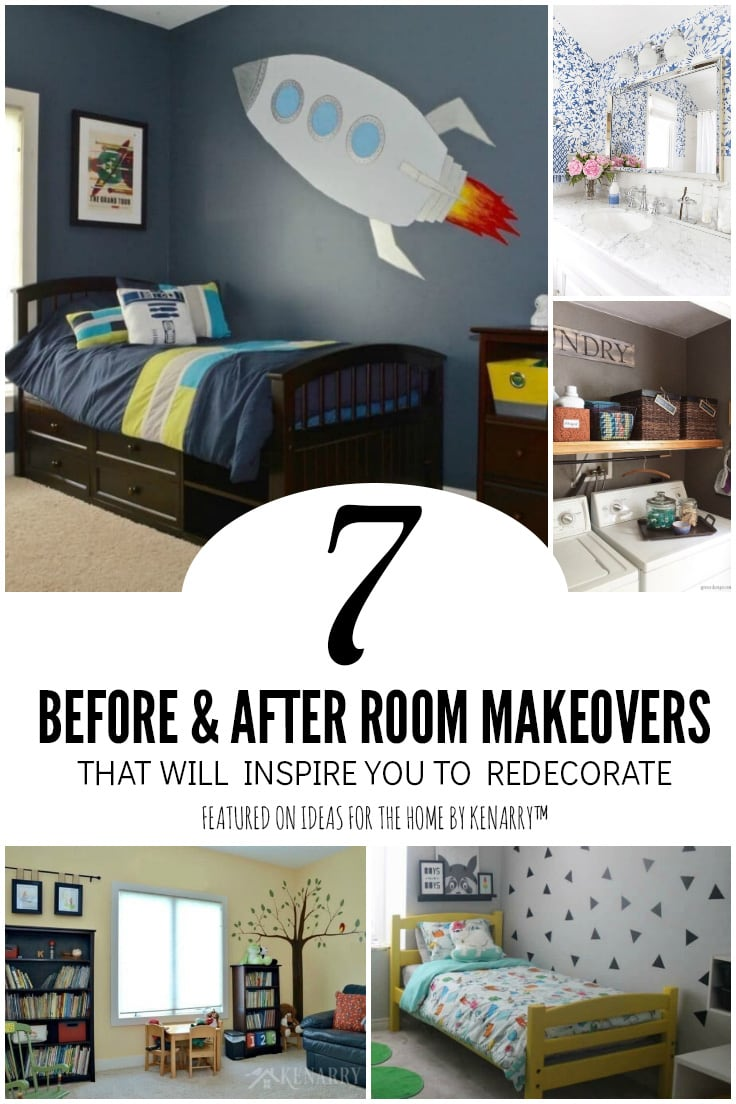 7 before and after room makeovers that will inspire you to redecorate featured on Ideas for the Home by Kenarry