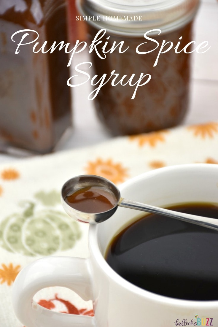 Simple homemade pumpkin spice syrup