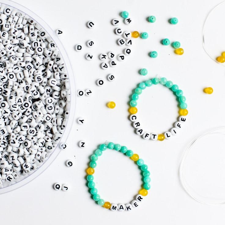 how to make word bead bracelets
