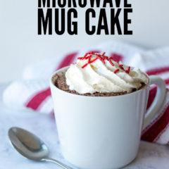 Easy 1-2-3 Microwave Mug Cake