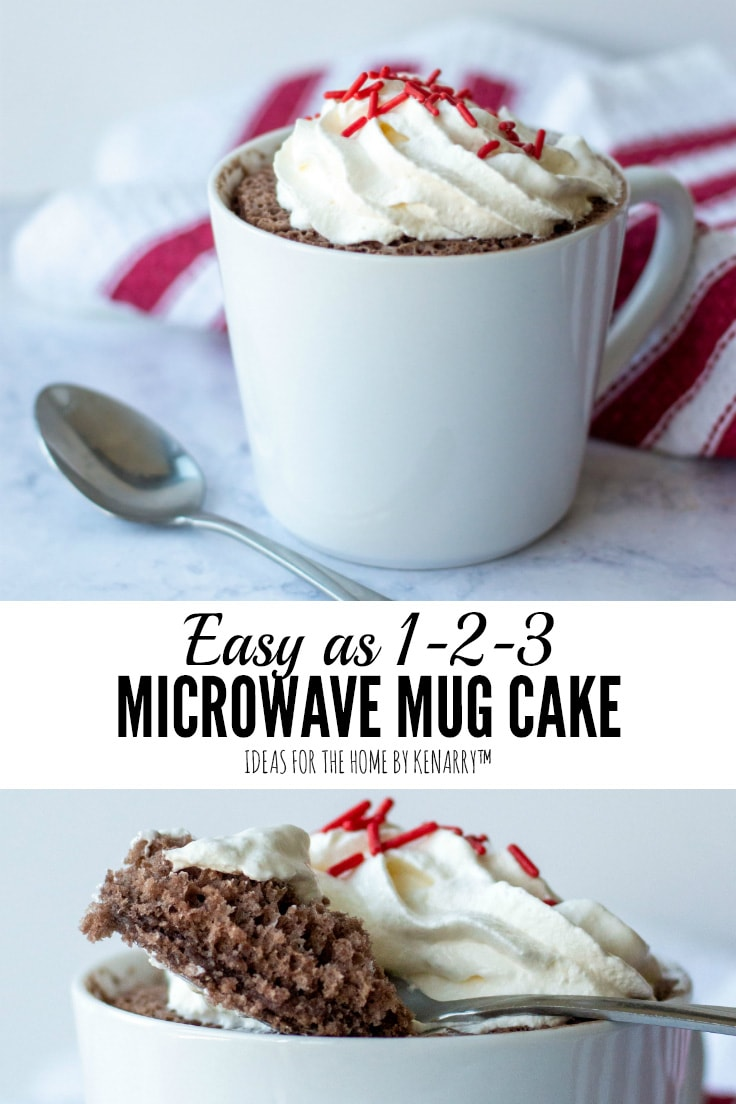Easy as 1-2-3 Microwave Mug Cake | Ideas for the Home by Kenarry