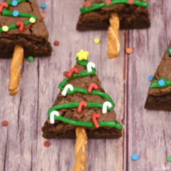 Christmas Tree Brownies treat