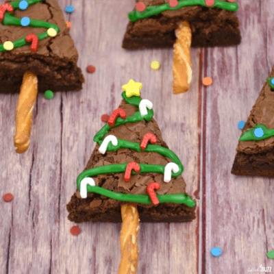 Christmas Tree Brownies treat