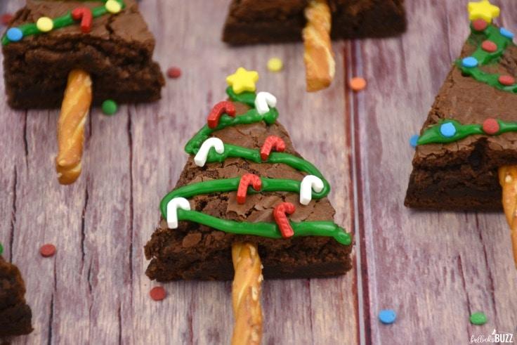 Christmas Tree Brownies holiday treat