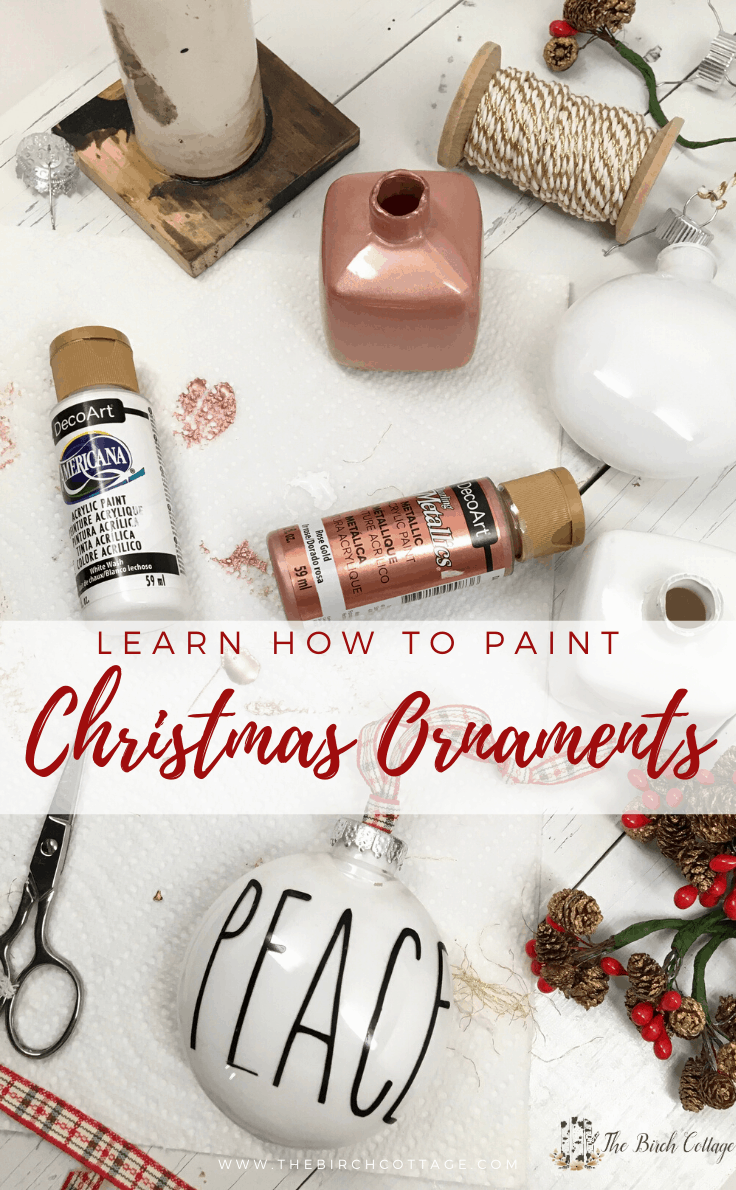 Learn how to paint Christmas Ornaments