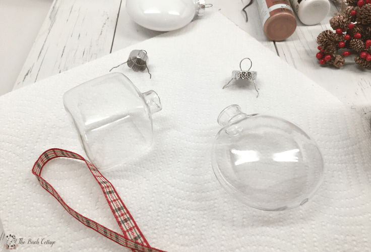 Clear ornaments with the tops removed
