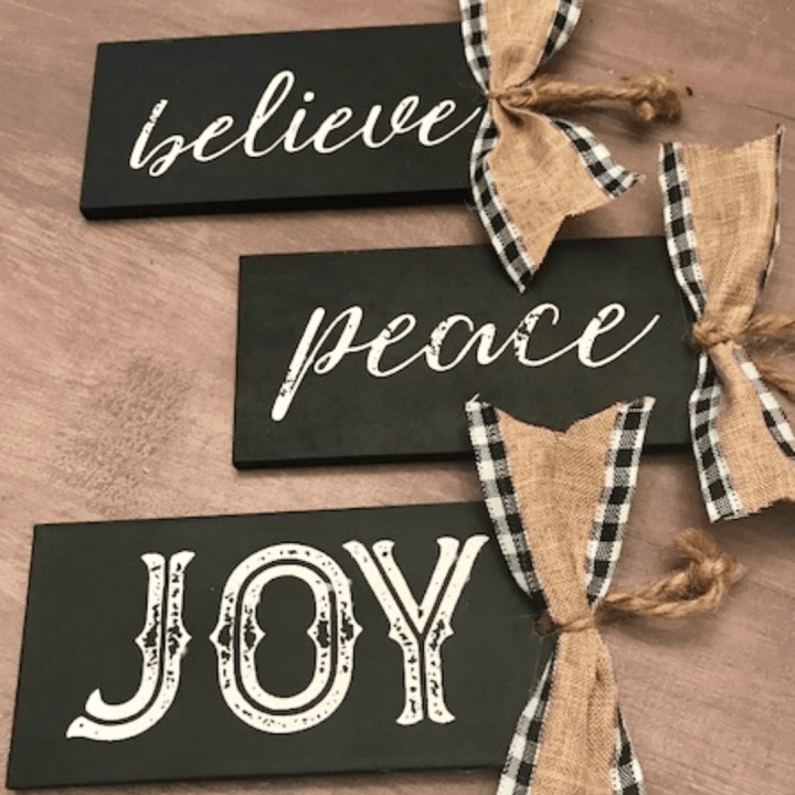 chalkboard diy Christmas ornaments
