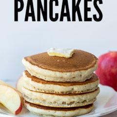 Cinnamon Applesauce Pancakes, an easy breakfast idea