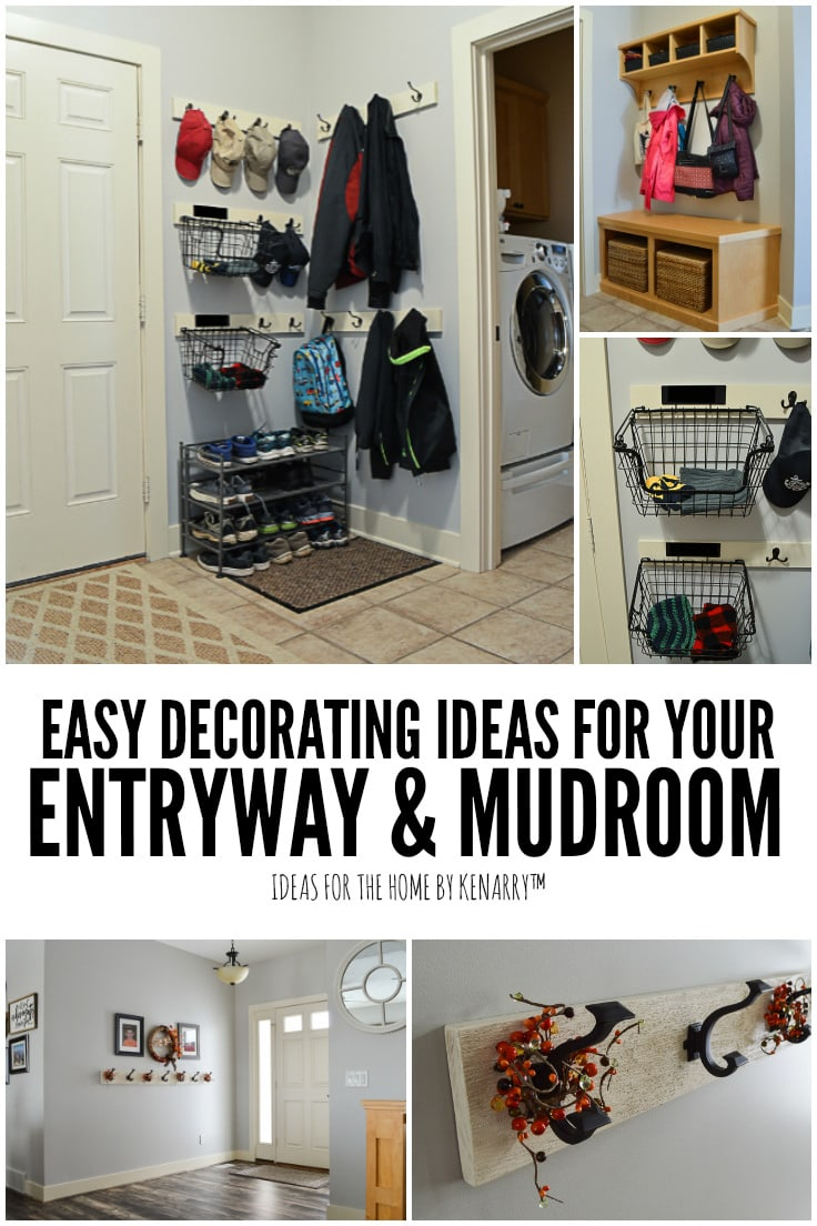 Easy Decorating Ideas for Your Entryway and Mudroom | Ideas for the Home by Kenarry