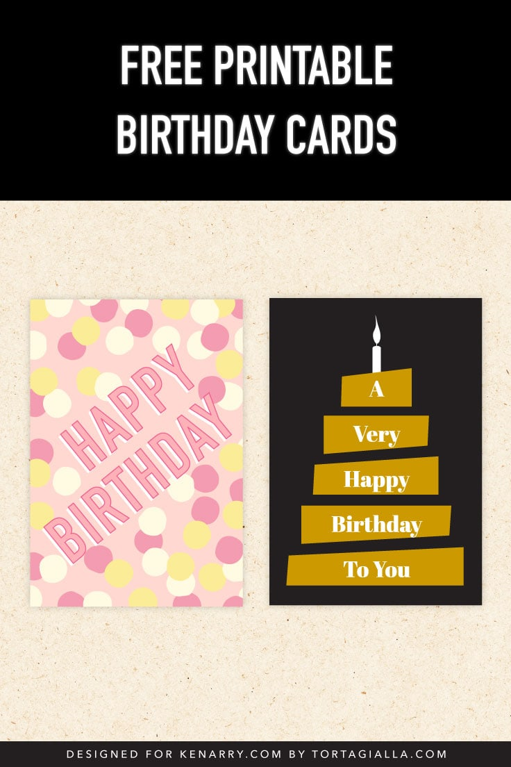 Preview of printable birthday card designs.
