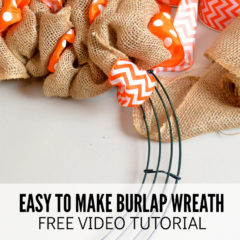 Easy to Make Burlap Wreath Free Video Tutorial
