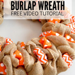 Learn How to Make a Burlap Wreath Free Video Tutorial
