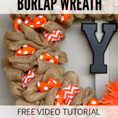 How to Make a Burlap Wreath Free Video Tutorial