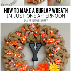 How to Make a Burlap Wreath in Just One Afternoon