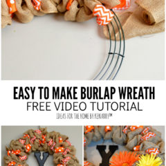 Easy to Make Burlap Wreath Free Video Tutorial | Ideas for the Home by Kenarry