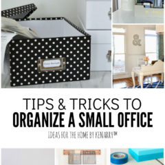 Tips and Tricks to Organize a Small Office   Ideas for the Home by Kenarry