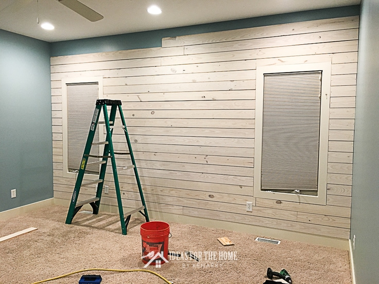 Installing a shiplap accent wall