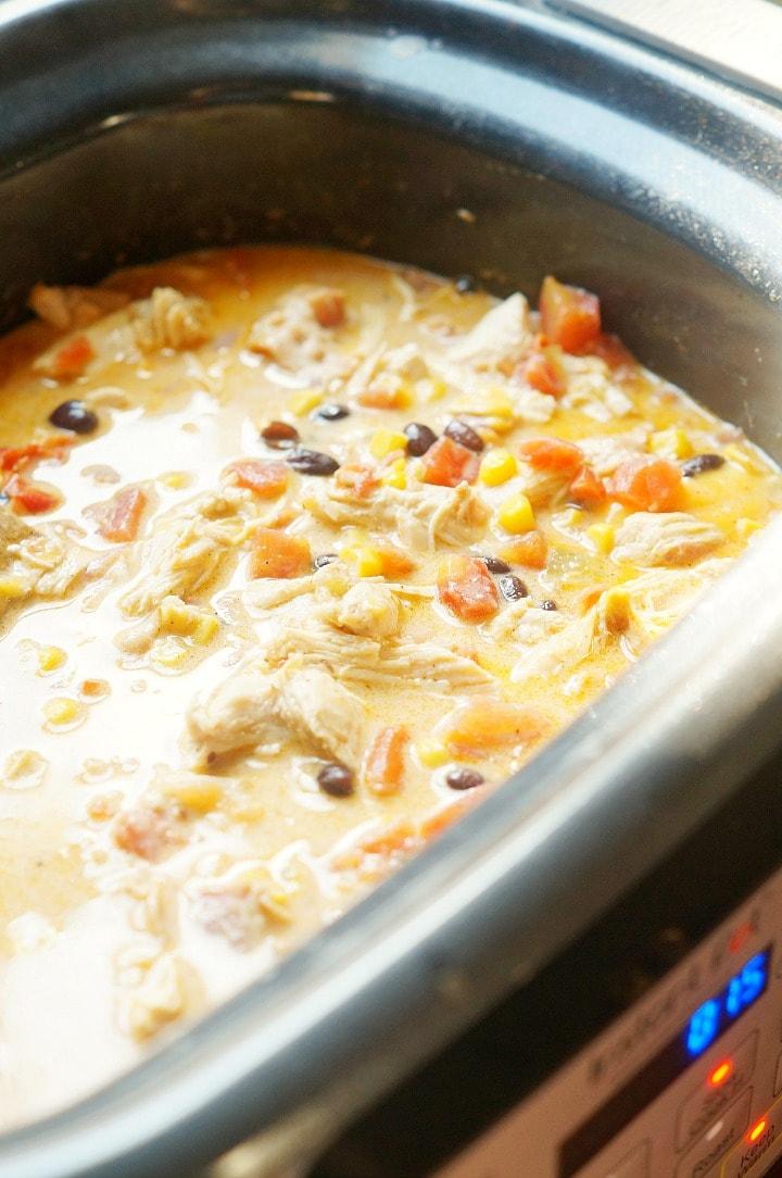 Crock Pot Creamy Chicken Chili