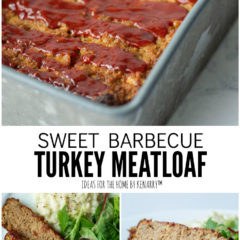 Sweet Barbecue Turkey Meatloaf, an easy recipe made with ground turkey