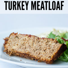 Sweet Barbecue Turkey Meatloaf on a plate