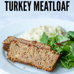 Sweet Barbecue Turkey Meatloaf made with ground turkey