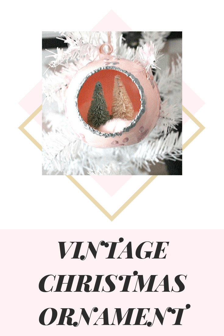 diy vintage christmas ornament with bottle brush trees