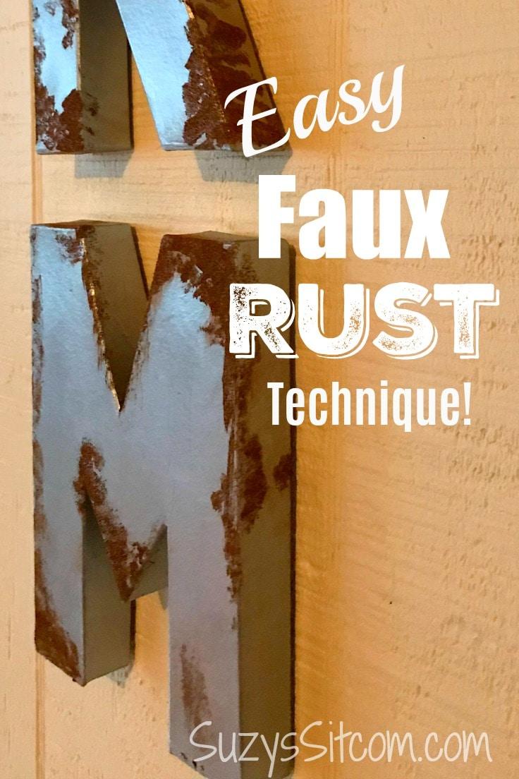 Easy faux rust technique