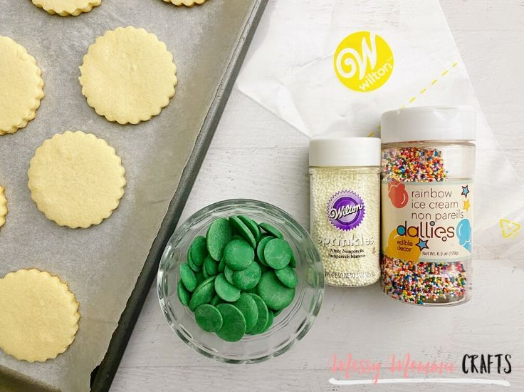 These Christmas Tree Sugar Cookies only require a handful of ingredients.