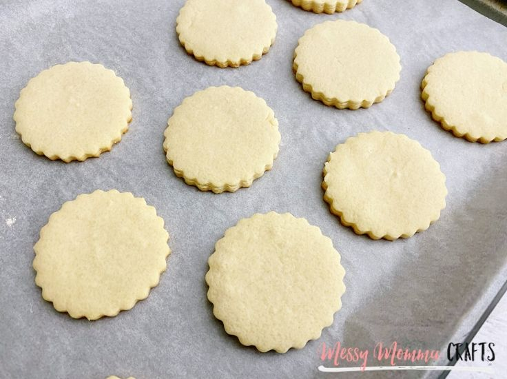I highly suggest making your own sugar cookie dough for the recipe but you could also use store bought sugar cookies from the grocery store if you don't have a lot of time.
