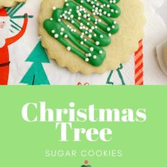 Create my Christmas Tree Sugar Cookies using my favorite no spread sugar cookie dough, a few ingredients and a little Christmas cheer.