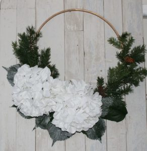 winter embroidery hoop wreath