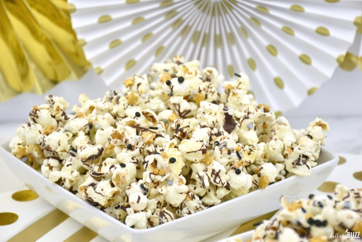 simple New Year's Eve popcorn recipe