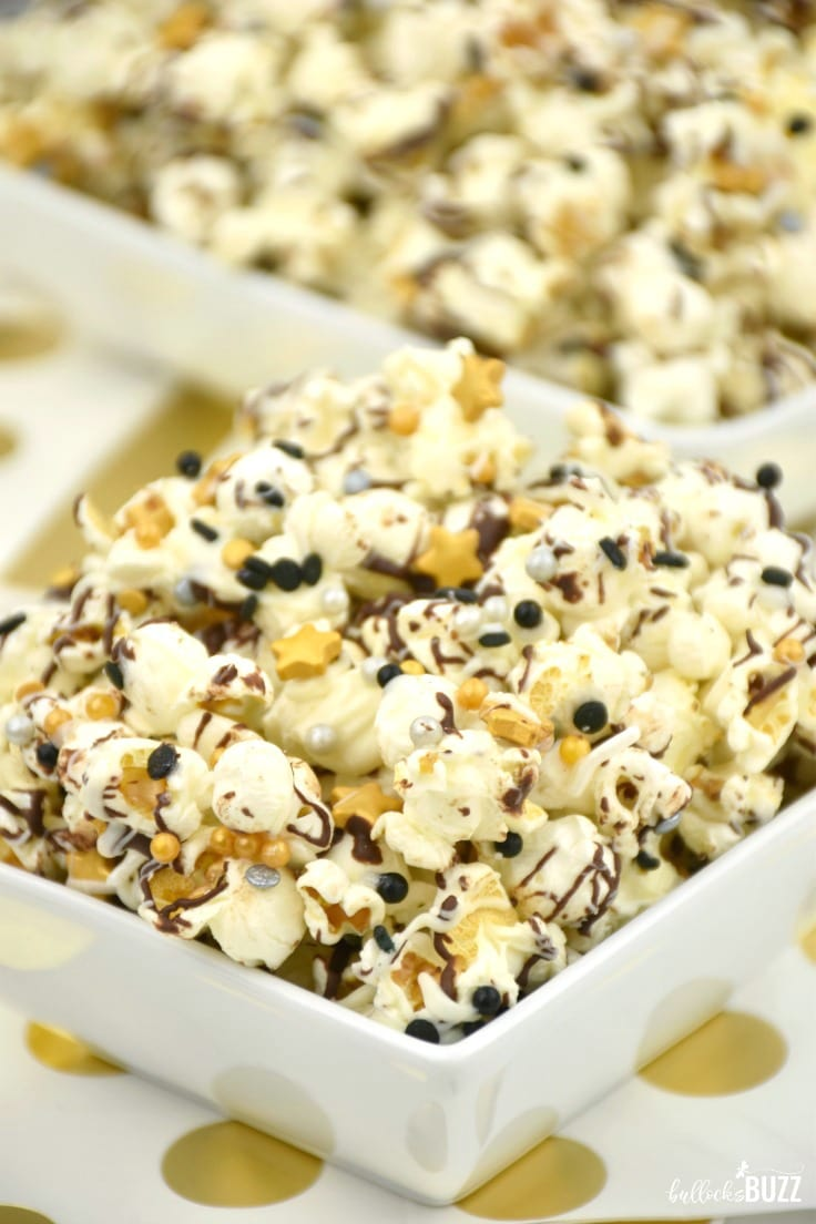 This quick New Year's Eve Party Popcorn is so easy even a child could make it. Best of all, it tastes amazing!