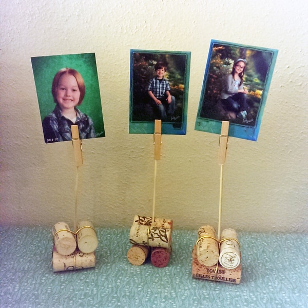 Easy Cork Photo Holders