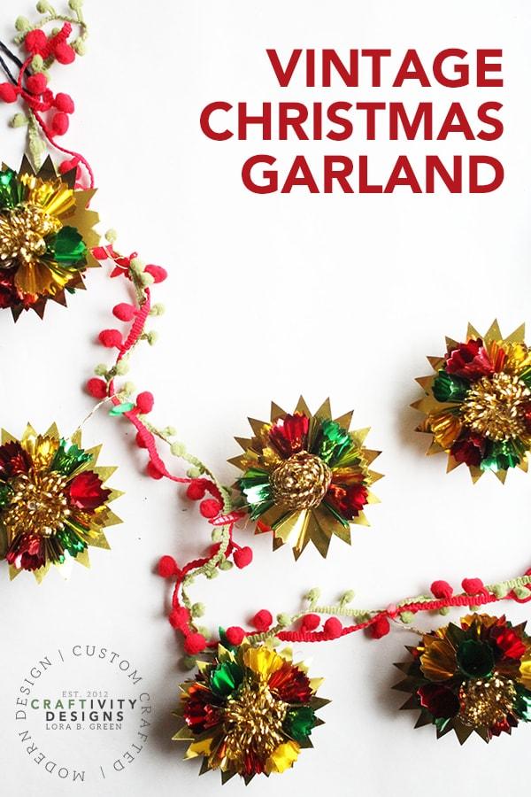 How to Make a Vintage Christmas Garland