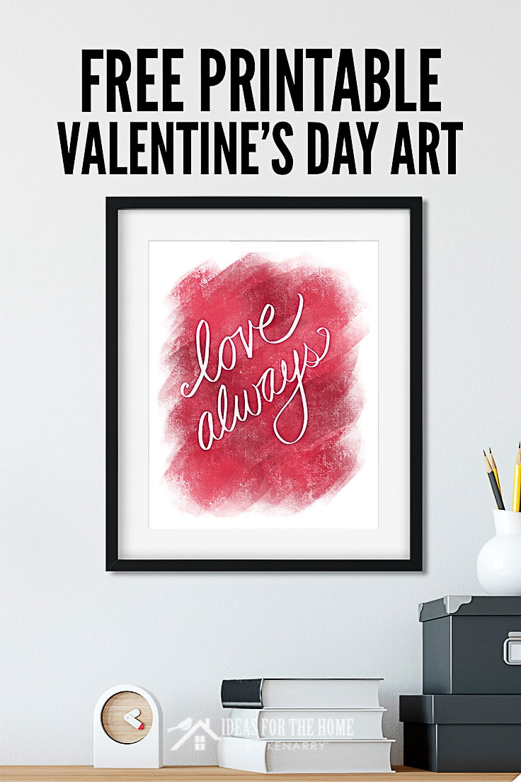 A Valentine's Day printable that says