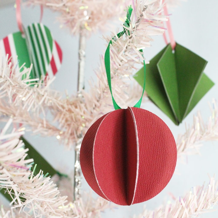 How to Make Paper Ornaments for Christmas