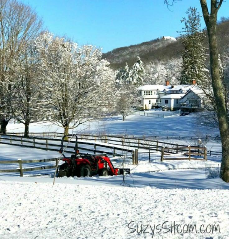 A new york farm in the winter