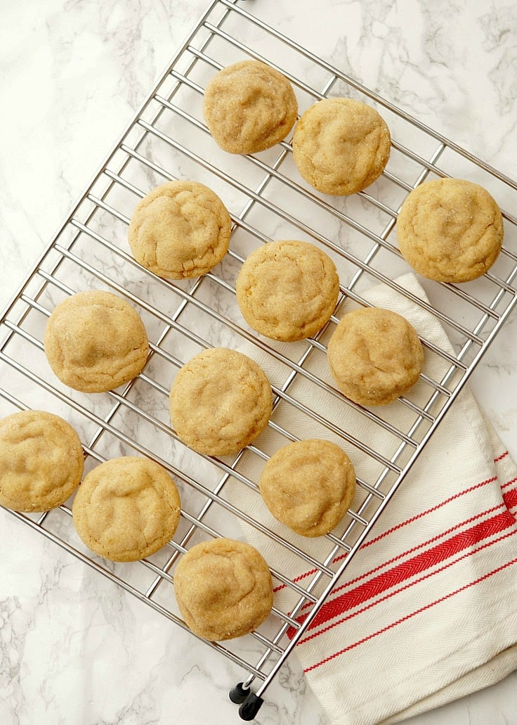 Soft Baked Peanut Butter Cookies, perfect for Christmas!