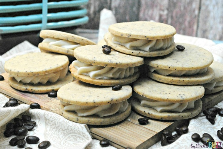 French vanilla coffee sandwich cookies.