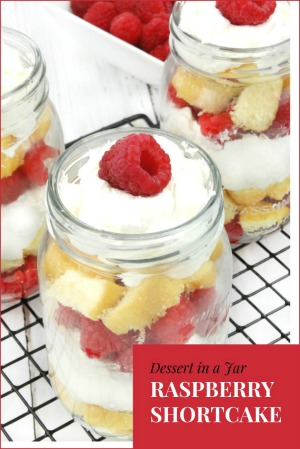 Raspberry Shortcake in a Jar is a quick and easy Valentine's Day Treat!