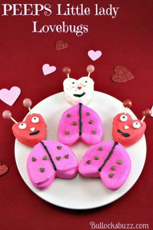 These adorable Valentine's Day Lady Lovebugs are made from everyone's favorite marshmallow treat! All you need is some Valentine's PEEPS, a few extra ingredients and about 10 minutes – that's it!