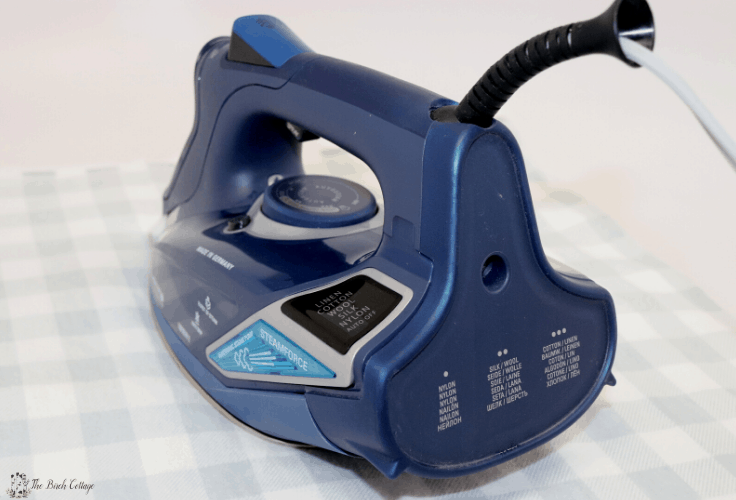 The back of the blue steamforce iron