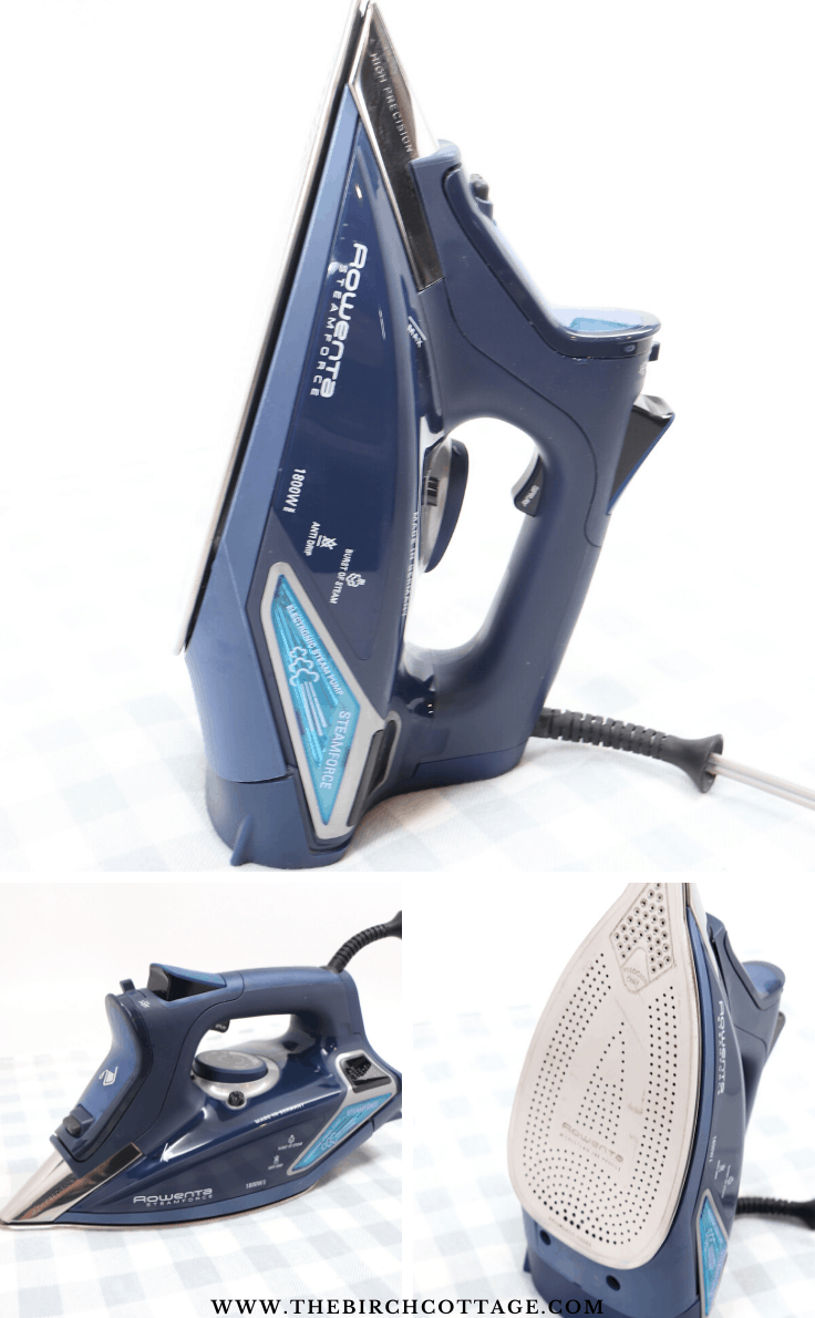 The Rowenta Steamforce iron sitting up
