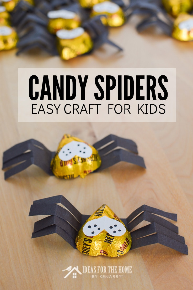 Candy Spiders Easy Craft for Kids